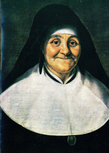 A painting of St. Julie Billiart